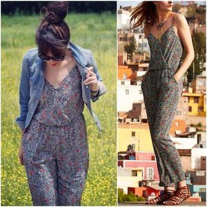 ANTHROPOLOGIE Peonia Jumpsuit Print Jumpsuit Wrap